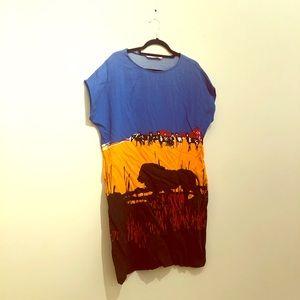 DVF printed dress